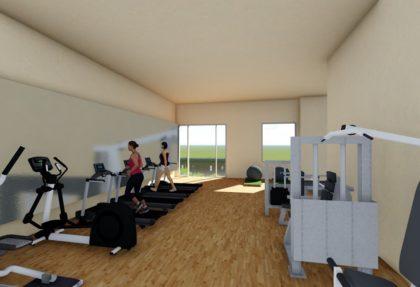 3D design for CAP Square Condominium Gym