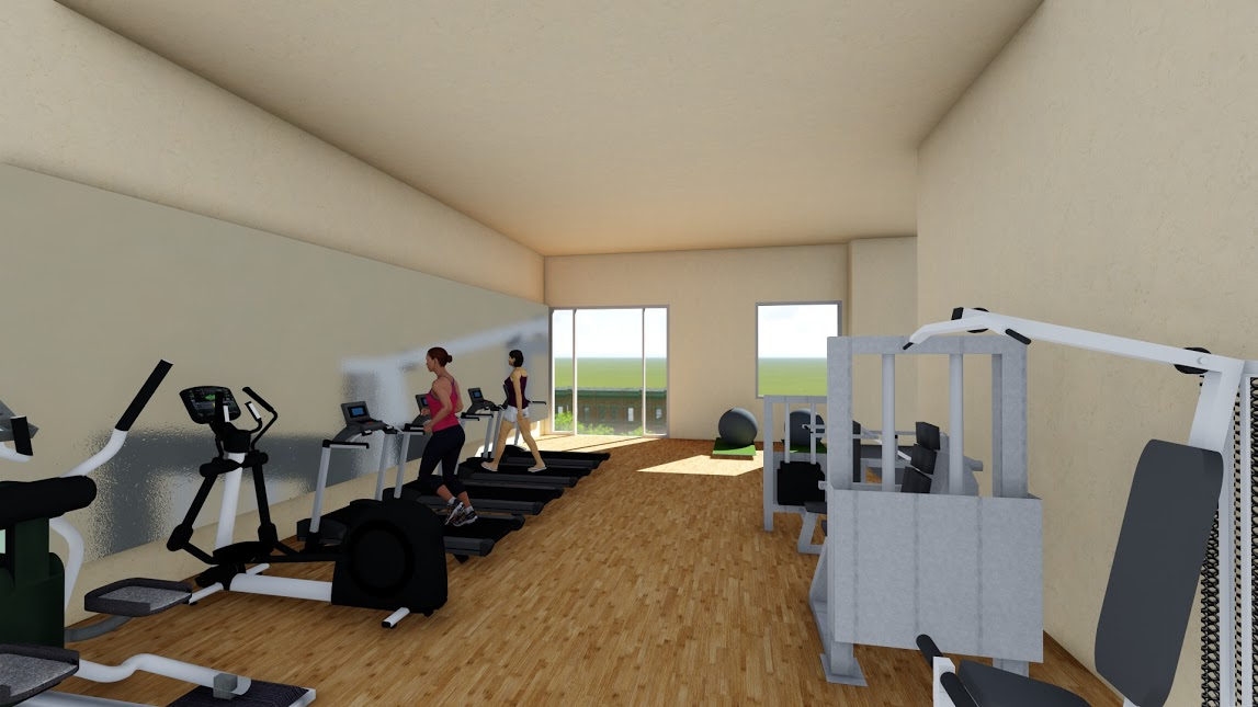 3D design for CAP Square Condominium Gym